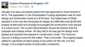 A recent Hudson Riverport Post on Facebook