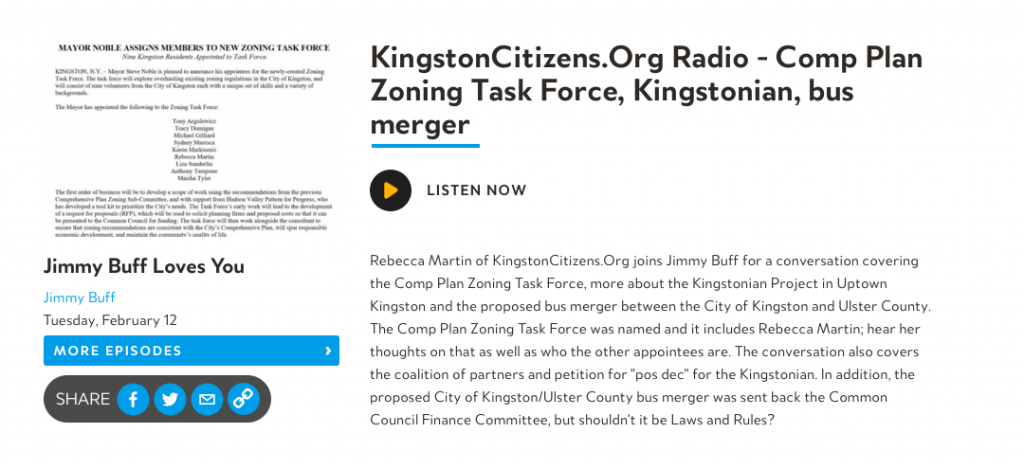 2/12/19: CP Zoning, Kingstonian, Bus Merger – Kingston Citizens