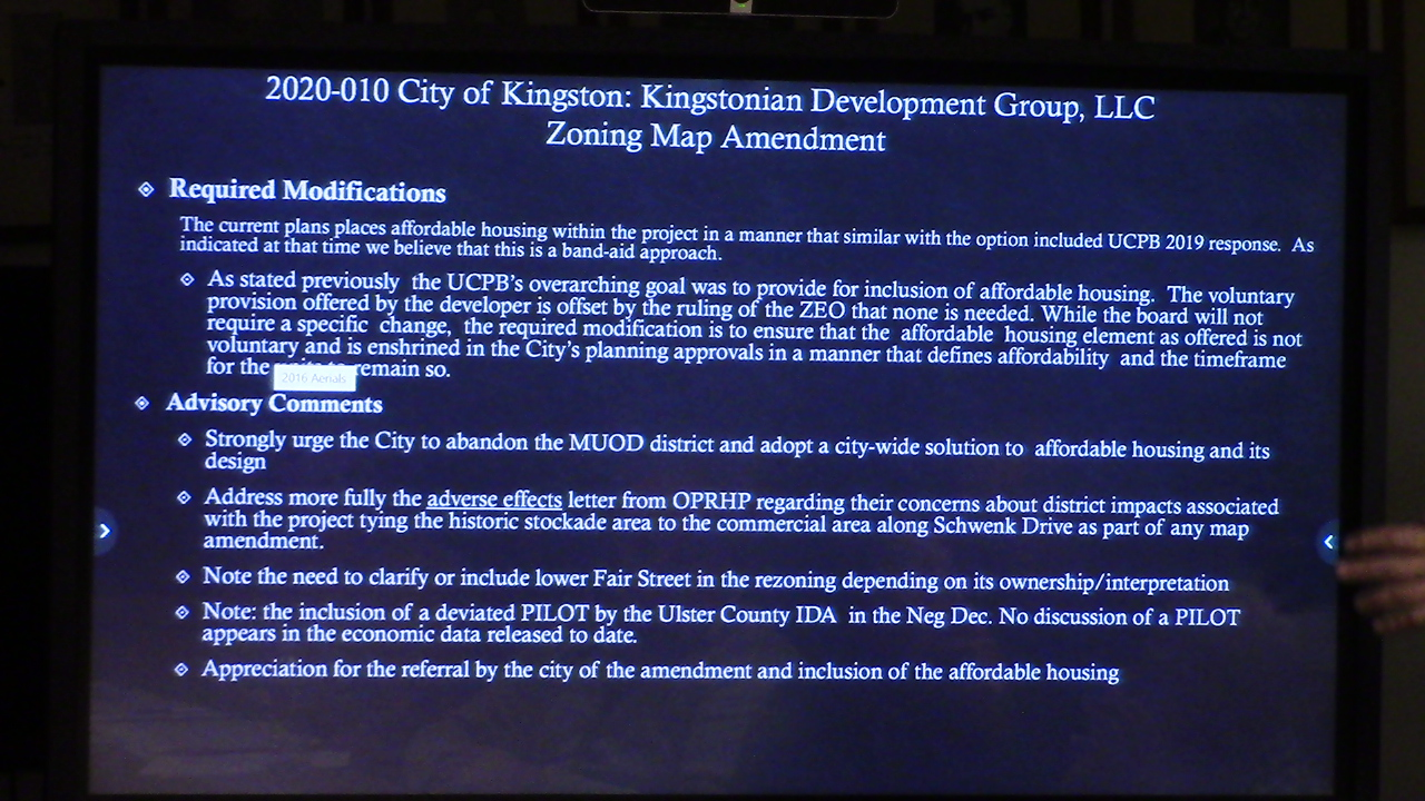 Kingstonian Zoning Petition Back at Ulster County Planning Board