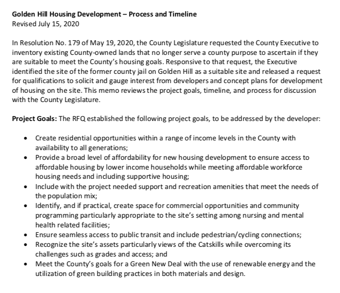 A public hearing on promising affordable housing project on Golden Hill site